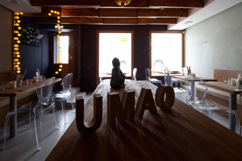Интерьерная съемка. Кафе UMAO